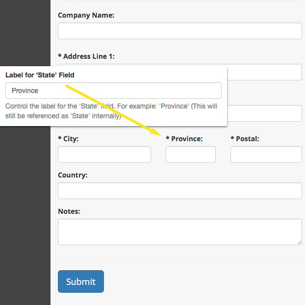 Customize Your Website's 'State' Field