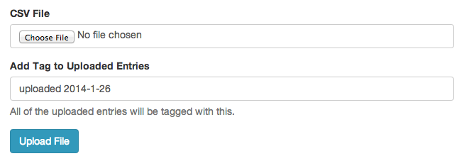 INYA Update: You can now assign a tag to imported addresses.