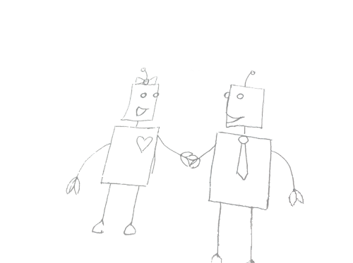 iNeedYourAddress mascots robots drawn by Jackie